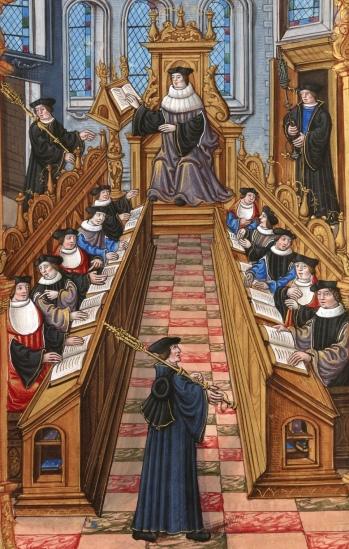 Reunião de Doutorado na Universidade de Paris Medieval
